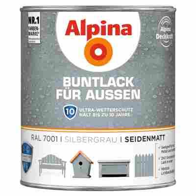 Alpina Buntlack für Außen silbergrau seidenmatt 750 ml