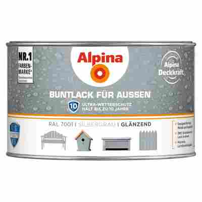 Alpina Buntlack für Außen silbergrau glänzend 300 ml