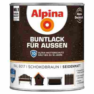 Alpina Buntlack für Außen schokobraun seidenmatt 750 ml