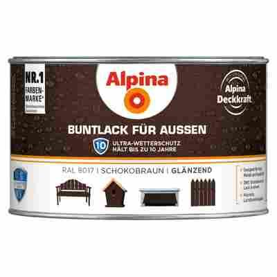 Alpina Buntlack für Außen schokobraun glänzend 300 ml