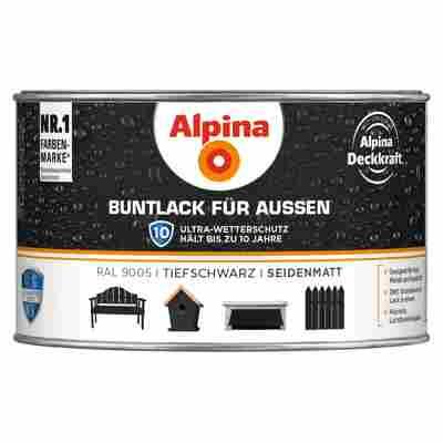 Alpina Buntlack für Außen tiefschwarz seidenmatt 300 ml