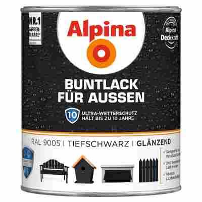 Alpina Buntlack für Außen tiefschwarz glänzend 750 ml