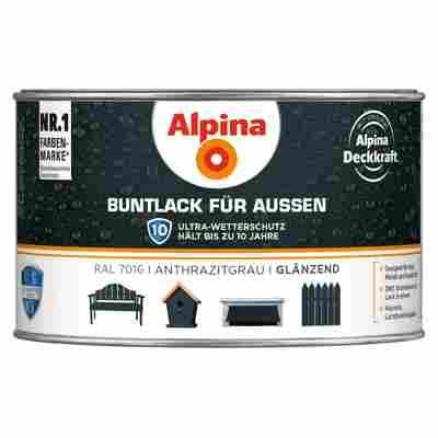 Alpina Buntlack für Außen anthrazitgrau glänzend 300 ml
