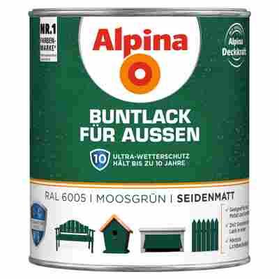 Alpina Buntlack für Außen moosgrün seidenmatt 750 ml
