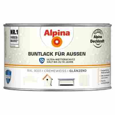 Alpina Buntlack für Außen cremeweiß glänzend 300 ml