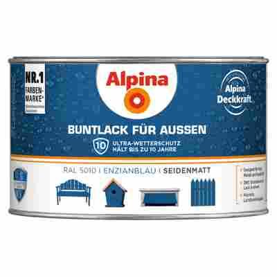 Alpina Buntlack für Außen enzianblau seidenmatt 300 ml
