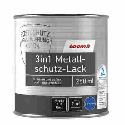 toom 3in1 Metallschutzlack rot glänzend 250 ml