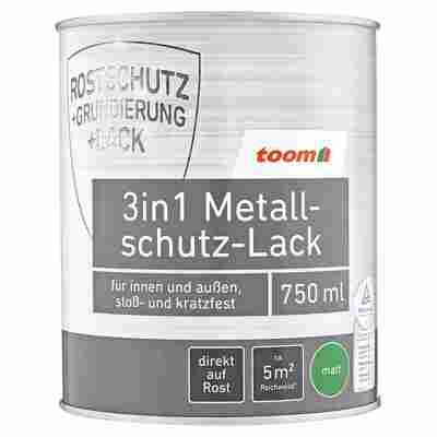 3in1 Metallschutzlack hellgrau matt 750 ml