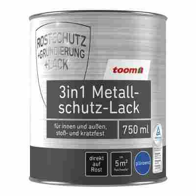 3in1 Metallschutzlack hellgrau glänzend 750 ml
