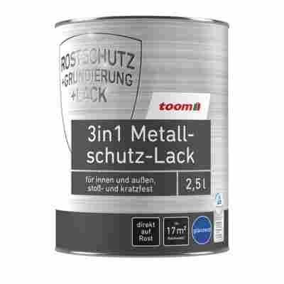 3in1 Metallschutzlack weiß glänzend 2500 ml