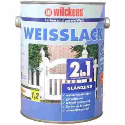 Weißlack 2 in 1 glänzend 2,5 Liter