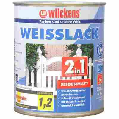 Weißlack 2 in 1 seidenmatt 0,75 Liter