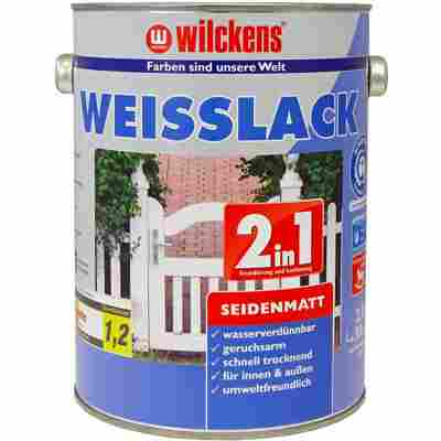 Weißlack 2 in 1 seidenmatt 2,5 Liter