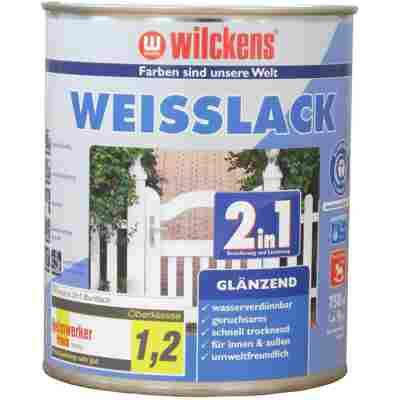 Weißlack 2 in 1 glänzend 0,75 Liter