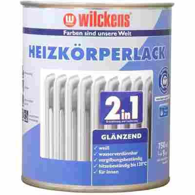 Heizkörperlack 2 in 1 glänzend, weiß 0,75 Liter