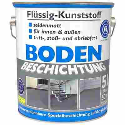 Flüssig-Kunststoff Bodenbeschichtung silbergrau seidenmatt 5 l