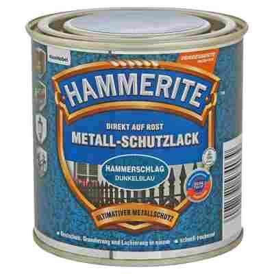 Metallschutzlack 'Direkt auf Rost' dunkelblau Hammerschlag-Effekt 250 ml
