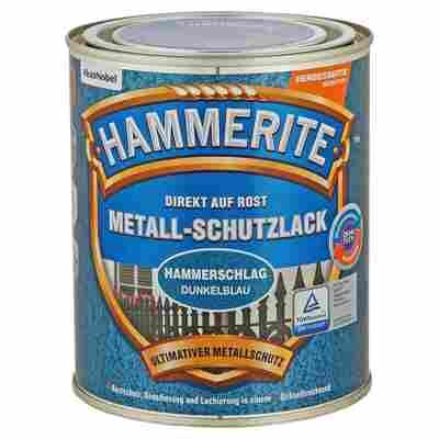 Metallschutzlack 'Direkt auf Rost' dunkelblau Hammerschlag-Effekt 750 ml