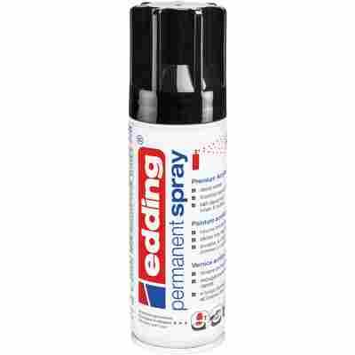 Premium-Acryllack 'Permanent Spray' tiefschwarz glänzend RAL 9005 200 ml