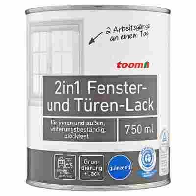 toom 2in1 Fenster- und Türen-Lack, weiß, glänzend, 750 ml