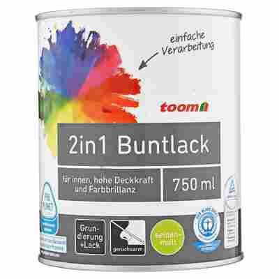 2in1 Buntlack seidenmatt reinweiß 750 ml