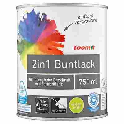 2in1 Buntlack seidenmatt edelbraun 750 ml