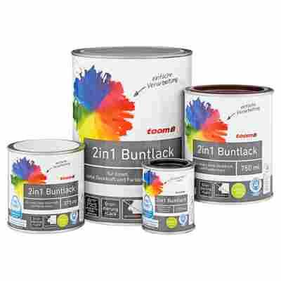 2in1 Buntlack seidenmatt lichtgrau 750 ml