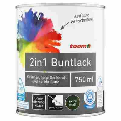 2in1 Buntlack extramatt edelbraun 750 ml