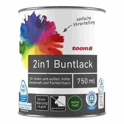 2in1 Buntlack seidenmatt feuerrot 750 ml