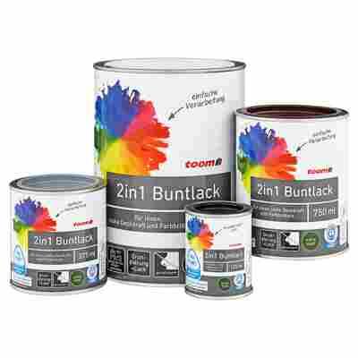 2in1 Buntlack extramatt mohnblumenrot 375 ml