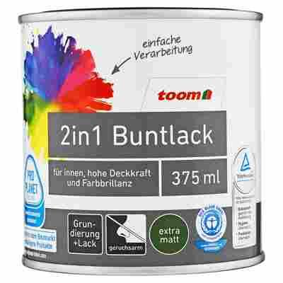 2in1 Buntlack extramatt edelbraun 375 ml