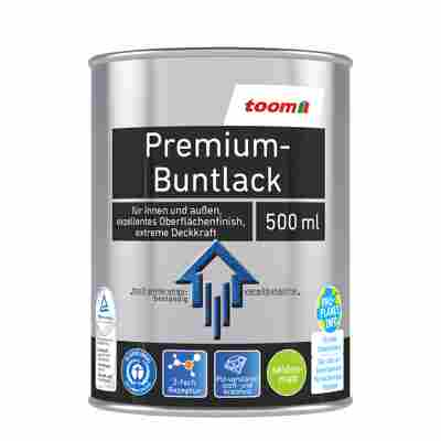 Premium-Buntlack seidenmatt tiefschwarz 500 ml