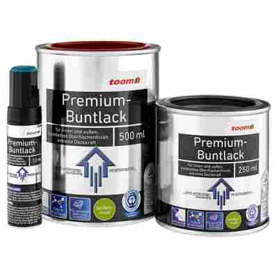Premium-Buntlack seidenmatt tiefschwarz 12 ml