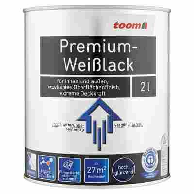 Premium-Weißlack hochglänzend 2000 ml