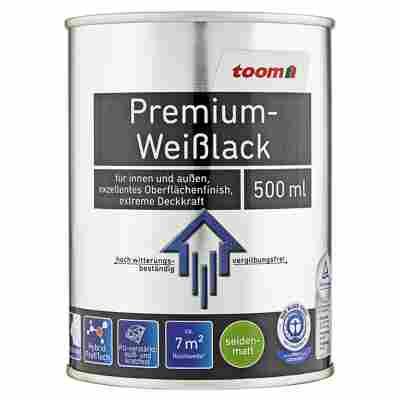 Premium-Weißlack seidenmatt 500 ml
