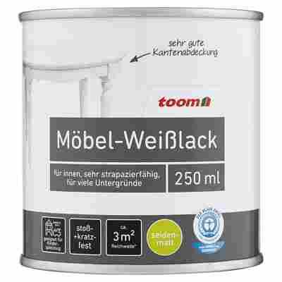 Möbel-Weißlack seidenmatt reinweiß 250 ml