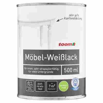 Möbel-Weißlack seidenmatt reinweiß 500 ml