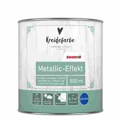 Kreidefarbe Metallic-Effekt silber glänzend 0,5 l