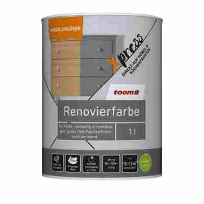 Renovierfarbe für Möbel- und Küchenfronten zartgrau seidenmatt 1 l