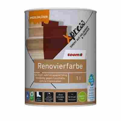 Renovierfarbe für Holzböden- und Treppen oxidrot seidenmatt 1 l