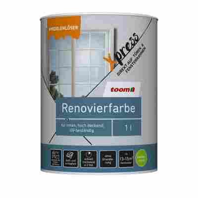 Renovierfarbe für Fenster und Türen reinweiß seidenmatt 1 l