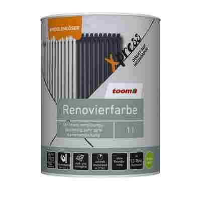 Renovierfarbe für Heizkörper schokobraun seidenmatt 1 l
