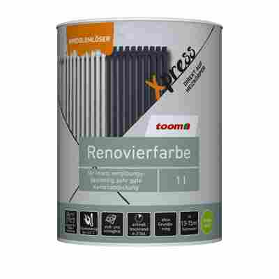 Renovierfarbe für Heizkörper lichtgrau seidenmatt 1 l
