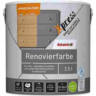 Renovierfarbe für Möbel- und Küchenfronten zartgrau seidenmatt 2,5 l