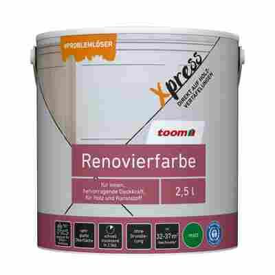 Renovierfarbe für Holzvertäfelungen weiß matt 2,5 l