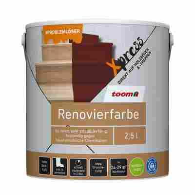 Renovierfarbe für Holzböden- und Treppen betongrau seidenmatt 2,5 l