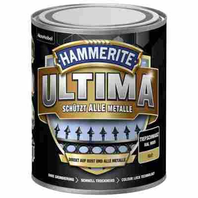 Metallschutzlack 'Ultima' RAL 9005 tiefschwarz matt 750 ml