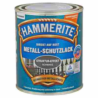 Metallschutzlack 'Direkt auf Rost' Struktureffekt schwarz 750 ml