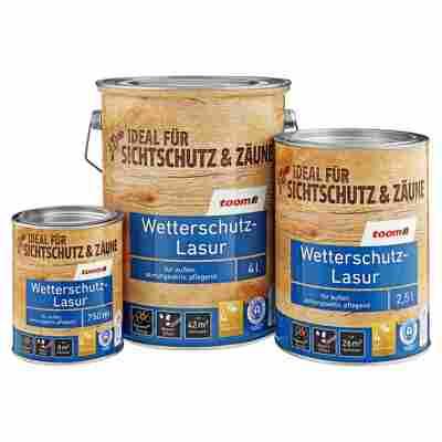 Wetterschutz-Lasur teakfarben 2,5 l