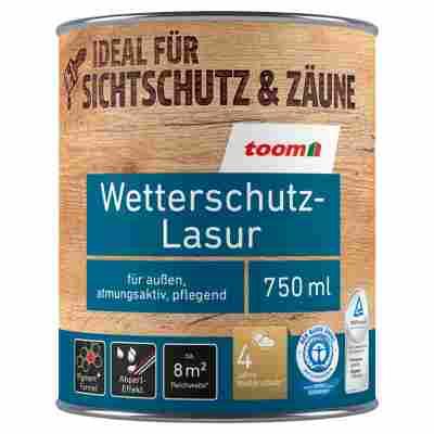 Wetterschutz-Lasur naturfarben 0,75 l